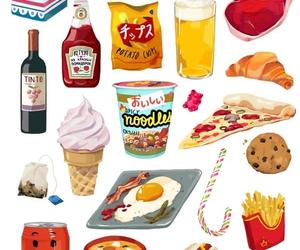art, food, and illustration image