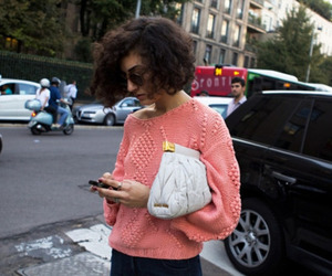 brunette, clutch, and knit image