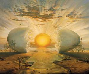 egg, art, and sun image