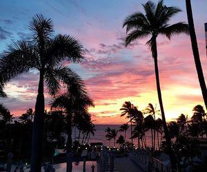 beach, maui, and sunsets image