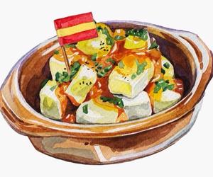 art, aki chan, and food image