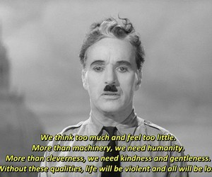 charlie chaplin, quotes, and love image