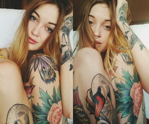 girl, grunge, and Tattoos image