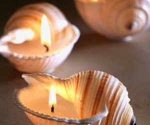 candle, diy, and shell image