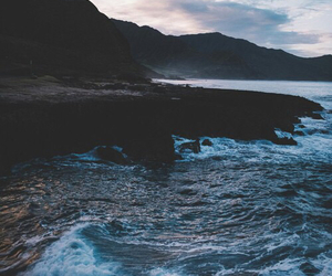 sea, water, and beach image