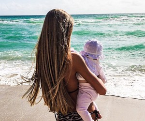 baby, sea, and love image