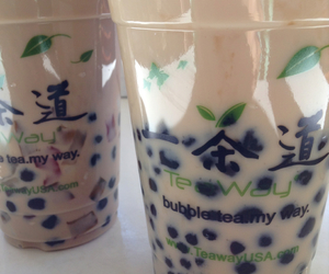 bubble tea, food, and tea image