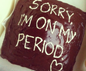 cake, chocolate, and sorry image