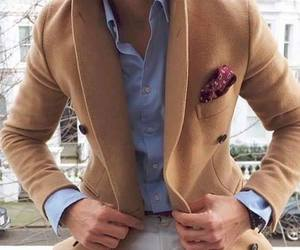 blue shirt, chic, and men style image