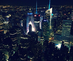 night, nyc, and places image