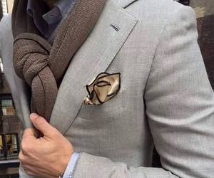 chic, scarf, and men style image