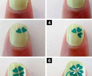 clover, Easy, and nail art image