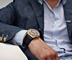 chic, men style, and watch image