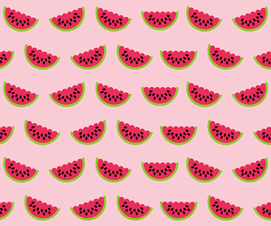 wallpaper, watermelon, and summer image
