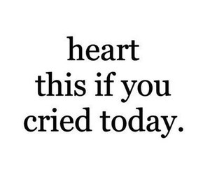 sad, cry, and heart image