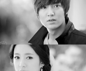 black and white, couple, and korean image