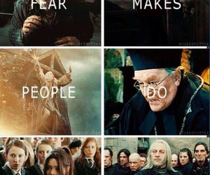 fear, harry potter, and quote image