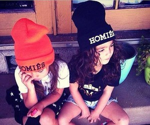 girl, homies, and swag image