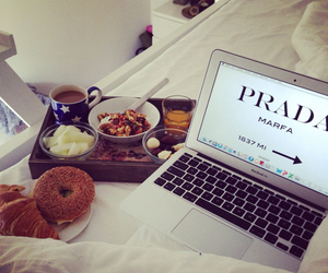 Prada, food, and breakfast image