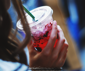 drink, starbucks, and ice image