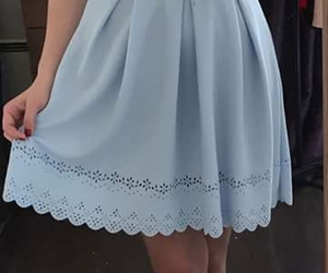 blue, dress, and pastel image