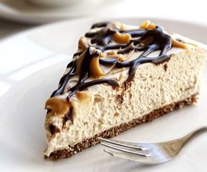brownie, caramel, and cheesecake image