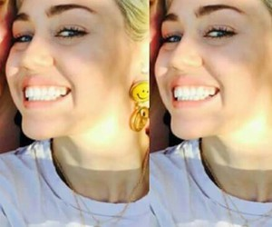 smile, cyrus, and miley image
