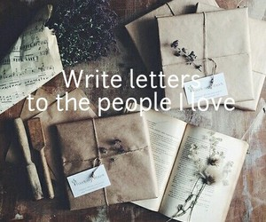 letters, book, and vintage image