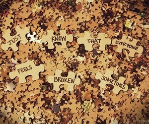puzzle, broken, and text image