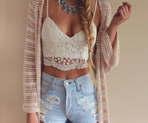 beauty, cardigan, and simple image