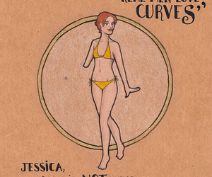 curves, skinny, and woman image
