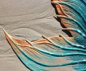 mermaid, sand, and summer image