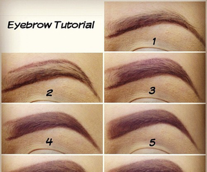 eyebrows, fashion, and tutorial image