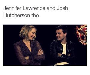 Jennifer Lawrence, joshifer, and the hunger games image