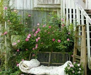outdoor living and shabby chic image