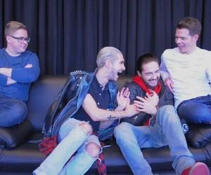 bill kaulitz, laugh, and gustav schäfer image