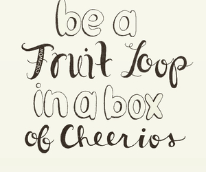 cereal, cheerios, and fruit image