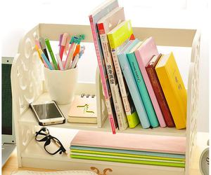 book, stationery, and colorful image