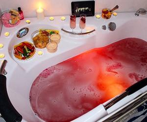 bath, luxury, and food image
