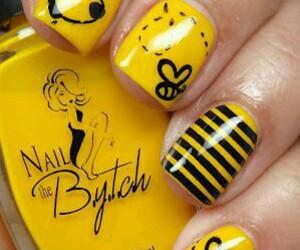 nails, yellow, and pooh image