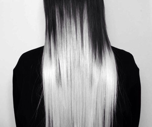 hair, black, and white image