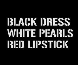 dress, black, and lipstick image