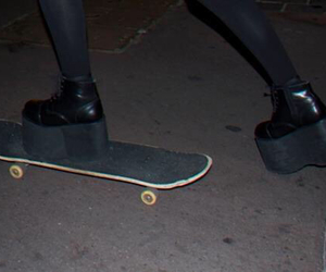 black, skateboard, and depressed image