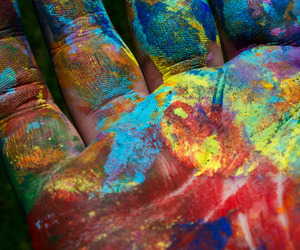 hand, paint, and art image