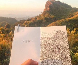 art, mountains, and photograpy image