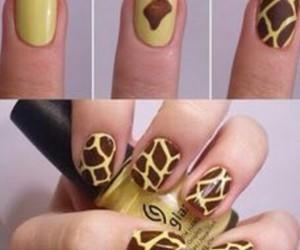 nails, tutorial, and giraffe image