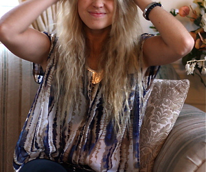 blogger, blonde, and hair image