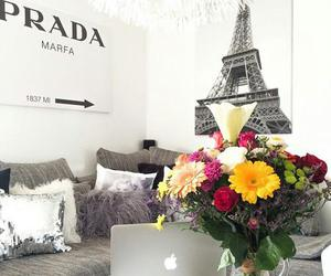 flowers, paris, and Prada image