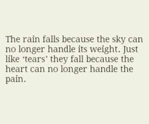 rain, quote, and sky image