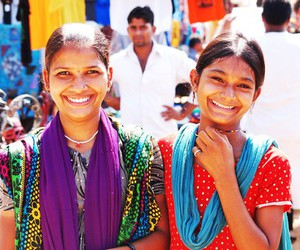 colorful, girls, and india image